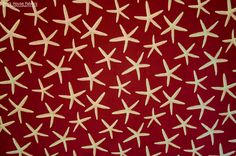Red starfish fabric sea star upholstery - A star fish fabric. A red upholstery weight fabric with sea stars!  #starfish #star #fish #sea #star #fabric #upholstery #sewing #homedec #beach #ocean #coastal #beachy #cottage #decor #decorating #homedecor