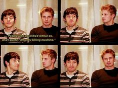 "Cols and Bradders <3 Look at Colin all like ""Don't look at me, I didn't say it."" lol don't lie Colin, yiss you did."