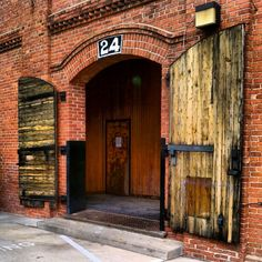 That's an entrance! Durham, NC. looks like the old warehouses.