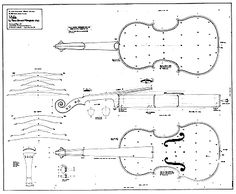 Technical drawing of Viola by Pietro Giovanni Mantegazza, Milan, available from the National Music Museum Violin Drawing, Violin Art, Cello Concerto, Electric Violin, Learn To Play Guitar, Classical Guitar, Guitar Lessons, Music Notes, Playing Guitar
