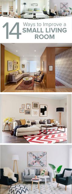 How to correct the errors and enhance your space?. 14 Ways to Improve a Small Living Room