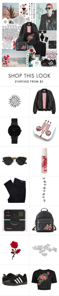"""""""Untitled #428"""" by cherryprincessannie ❤ liked on Polyvore featuring H&M, CLUSE, PhunkeeTree, AME, Christian Dior, Forever 21, Paige Denim, Charlotte Russe, GET LOST and adidas"""