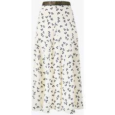 Roksanda Moraya Floral Print Skirt ($715) ❤ liked on Polyvore featuring skirts, floral maxi skirt, long maxi skirts, long silk skirt, long skirts and high waist long maxi skirt