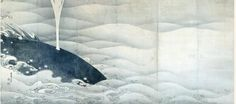 Ito Jakuchu, Elephant and Whale Screens Ink on paper, pair of six-fold screens Edo Period (1797) Dimensions: 159.4 × 354.0 each Miho Museum
