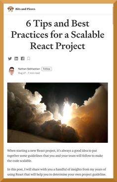 In this post, you will find out a handful of React insights that will help you to determine your own project guideline.
