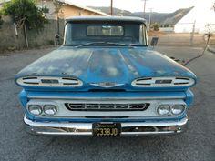 1961 Chevrolet Apache C-10 Short Bed V8 / 3 Trans California Pick Up G8 Patina