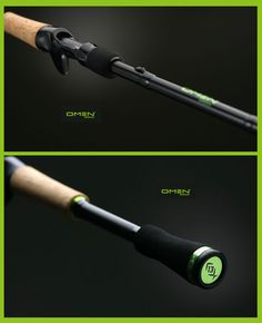 13 fishing omen black 7 39 3 mh hunting fishing for Green fishing rod