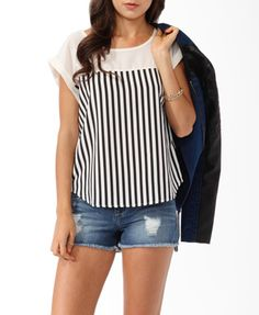 boxy vertical striped top