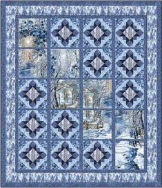 Winter View – Quilting Books Patterns and Notions Quilting Projects, Quilting Designs, Quilting Ideas, Sewing Projects, Quilting Board, Sewing Hacks, Wildlife Quilts, Attic Window Quilts, Fabric Panel Quilts
