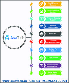 AsiaTech is one of the leading Travel Technology Company in India, We provides Channel Manager, Direct Booking Engine via Website, CRS Software for Hotels, Website Designing & Development, Payment Gateway Support, Property Management System, TripConnect and also Digital Marketing.  If you want to know more about our services then visit website https://www.asiatech.in or you can call us on +91-9654130894