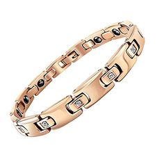 Womens Stainless Steel Rosegold Plating Bracelet Unique Valentines Day Present for Her Birthday Gift Idea for Girlfriend ** Read more reviews of the product by visiting the link on the image.