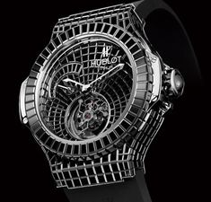 Now utilizing only black diamonds, Hublot created the ultimate, $1000000 million luxury watch – Black Caviar Bang.