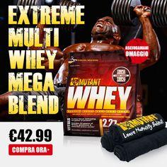 ▶ PROMO WHEY by MUTANT ◀ Sino ad esaurimento 2270g di proteine + piccolo asciugamani serie limitata Mutant ad un prezzo eccezionale! Info Prodotto➡http://goo.gl/vpc5ew