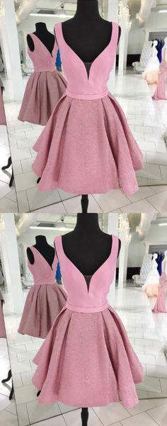 pink short prom dress, pink evening dress, homecoming dress