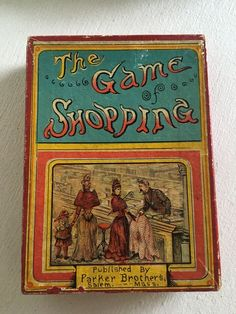 "RARE ANTIQUE GAME ""THE GAME OF SHOPPING"" PARKER BROTHERS SALEM MASS. 1890 #ParkerBrothers"