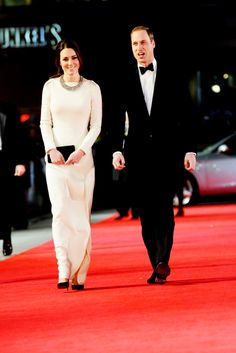 """The Duke and Duchess of Cambridge at the premiere of """"Mandela: Long Walk To Freedom"""" in Leicester Square, London  #katemiddleton 12/5/13"""