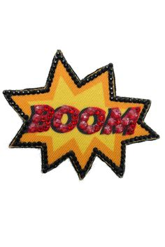 """Ekaterini Pop Art Collection """"BOOM"""" badge with Swarovski crystals Women's Brooches, Jewelry Shop, Brooch Pin, Swarovski Crystals, Pop Art, Badge, Accessories, Collection, Brooch"""