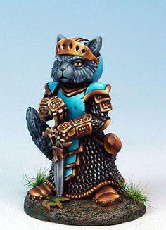 """Dark Sword DSM-8079 """"Nom"""" Cat Paladin (1) Miniature Feline Warrior ..."""