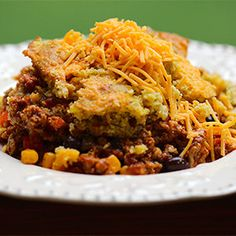 Crockpot tamale pie with cornbread crust. Create a taste of the Southwest, slow cooker style!