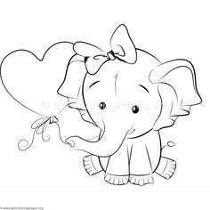 Cute Elephant 3 Coloring Pages – Graffiti World Valentine Coloring Pages, Cute Coloring Pages, Animal Coloring Pages, Adult Coloring Pages, Coloring Books, Elephant Colour, Elephant Art, Cute Elephant, Colorful Drawings