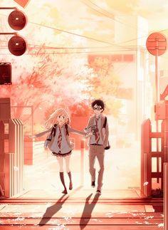 Miyazono Kaori and Arima Kousei Shigatsu was kimi no uso/Your lie in April