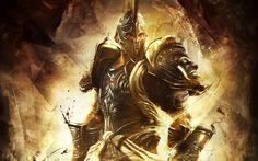 holy warrior soldier of god   god of war helmets armour trojan 2880x1800 wallpaper Video Games God ...
