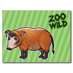 Get your hands on a customizable Red postcard from Zazzle. Find a large selection of sizes and shapes for your postcard needs! Red River Hog, Scooby Doo, Thank You Cards, Fun, Animals, Fictional Characters, Design, Appreciation Cards, Animales