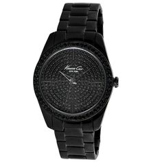 Kenneth Cole New York KC4967 Women's Analog Black Steel Watch Black Crystals