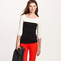 Perfect-fit colorblock tee