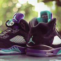 Air Jordan 5 Retro Black Grape - $375