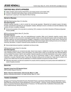 Real Estate Appraiser Resume Chicago Real Estate Appraiser  847 8635776  For The Home .