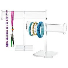 The Container Store > Acrylic Jewelry Stands