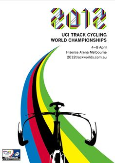 UCI Track Cycling Poster Competition 2012 by Elise Williamson, via Behance