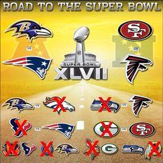 Road to Super Bowl 47: http://on.nfl.com/Road_SB47 via NFL on Facebook 20130114