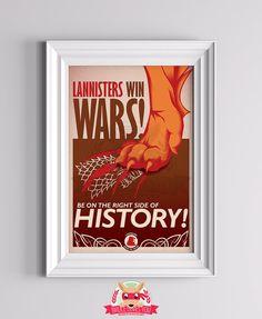 Lannister Win Wars  Haus Lannister Poster