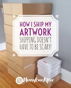 How I Ship My Artwork Shipping your art doesn't have to be scary. Selling Art Online, Online Art, Selling Apps, Craft Business, Creative Business, Starting An Etsy Business, Ship Paintings, Selling Paintings, Sell My Art