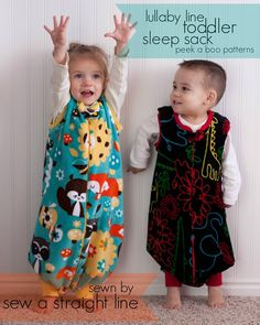 toddler sleep sacks Sew a Straight Line