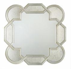 Bernhardt Salon Decorative Silver Leaf Salon Mirror