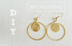 DIY | BOHO SPIRAL EARINGS #bohemian #diyjewelry #earrings