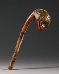 163 TLINGIT POLYCHROME WOOD RATTLE DEPICTING A SCULPIN, ALASKA OR CANADA American Indian Art | Sotheby's