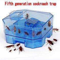 Fifth Generationreusable Plasticnon-toxic Eco Blue Cockroach Bug Roach Motel Catcher Catch Insect Pest Killer Bait Trap Traps