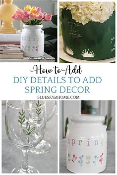 How to Add DIY Details to Spring Decor. Use ChalkArt and stencils to make decorative items cute and seasonal for spring decorating.