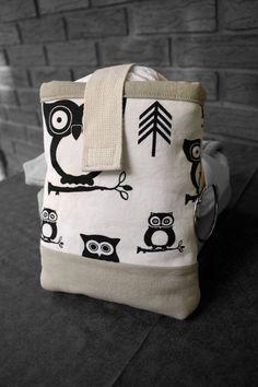 SALE  Black and White Owl Print & Taupe Diaper Clutch by PennyBeas, $20.00  @Vanna Jordan