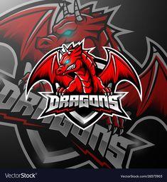 Red dragon esports logo design - Buy this stock vector and explore similar vectors at Adobe Stock - Logos Steam Logo, Logo Free, Logo Dragon, Dragons Online, Game Logo Design, Esports Logo, E Sport, Mascot Design, Cartoon Faces
