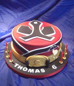 Samurai power ranger cake                                                                                                                                                      Más