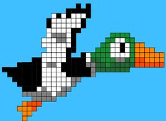 duck minecraft pixel art