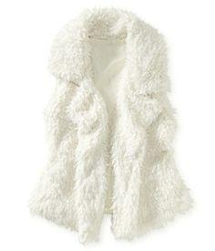 Faux Fur Vest from Aeropostale