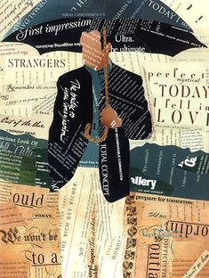 """""""Today"""" by Richard Curtner (Textual Collage)"""