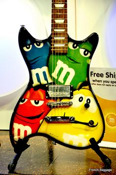 #M&M guitar #candy #chocolate #mars #mscandyblog