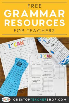 A collection of FREE Grammar Resources for teachers! These printable and digital Grammar Practice activities are perfect for daily review, language arts centers, distance learning, homework, morning work, and more! Be sure to download them all! Available for 1st Grade, 2nd, 3rd, 4th, 5th, 6th, 7th, and 8th. Grammar Practice, Teaching Grammar, Teaching Writing, Grammar Activities, Middle School Teachers, Word Study, Morning Work, Kids Education, Teacher Resources
